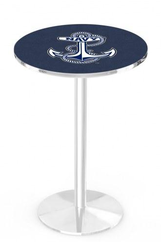 Navy Midshipmen Chrome Pub Table with Round Base