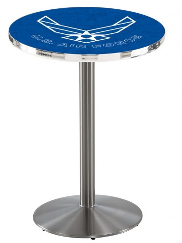 Air Force Falcons Stainless Steel Bar Table with Round Base
