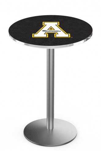 Appalachian State Mountaineers Stainless Steel Bar Table with Round Base