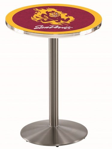 Arizona State Sun Devils Stainless Steel Bar Table with Round Base