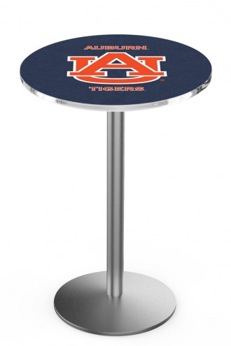 Auburn Tigers Stainless Steel Bar Table with Round Base
