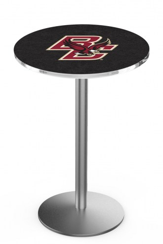 Boston College Eagles Stainless Steel Bar Table with Round Base