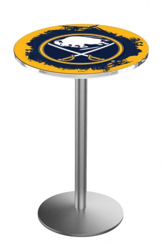 Buffalo Sabres Stainless Steel Bar Table with Round Base