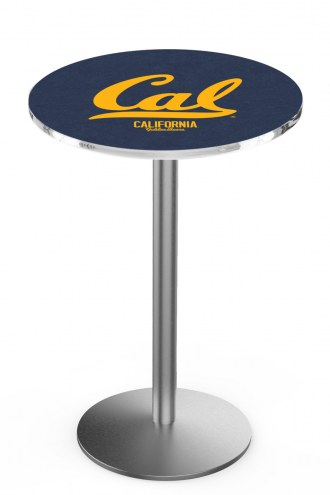 California Golden Bears Stainless Steel Bar Table with Round Base