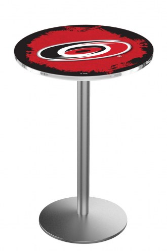 Carolina Hurricanes Stainless Steel Bar Table with Round Base