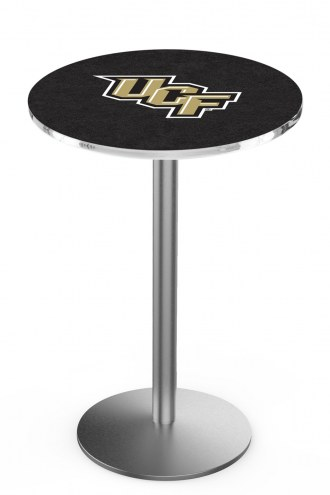 Central Florida Knights Stainless Steel Bar Table with Round Base