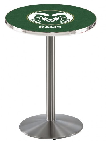 Colorado State Rams Stainless Steel Bar Table with Round Base