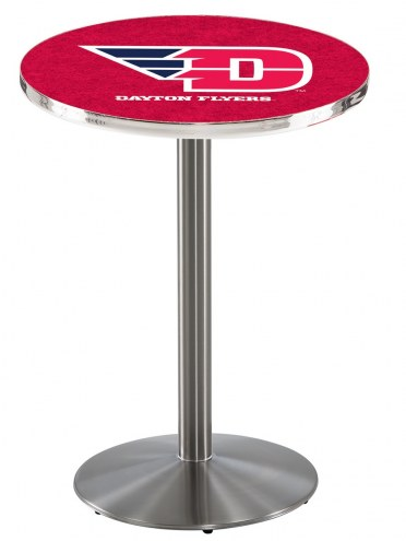 Dayton Flyers Stainless Steel Bar Table with Round Base