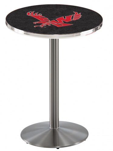 Eastern Washington Eagles Stainless Steel Bar Table with Round Base