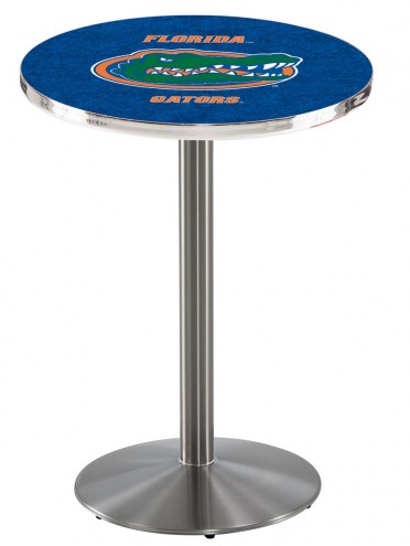 Florida Gators Stainless Steel Bar Table with Round Base