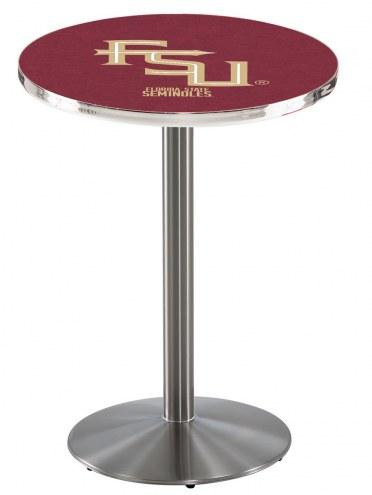 Florida State Seminoles Script Stainless Steel Bar Table