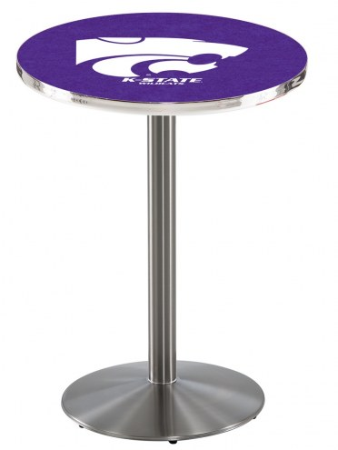 Kansas State Wildcats Stainless Steel Bar Table with Round Base