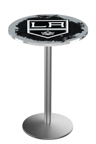 Los Angeles Kings Stainless Steel Bar Table with Round Base
