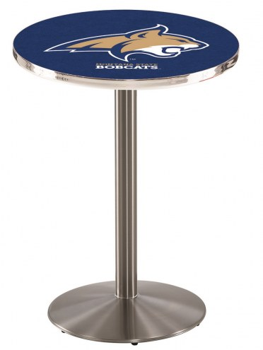 Montana State Bobcats Stainless Steel Bar Table with Round Base