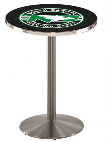 University of North Dakota Stainless Steel Bar Table with Round Base