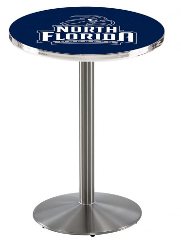 North Florida Ospreys Stainless Steel Bar Table with Round Base