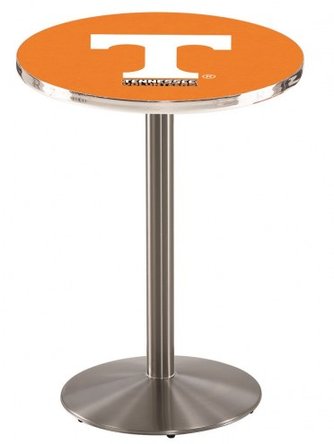 Tennessee Volunteers Stainless Steel Bar Table with Round Base