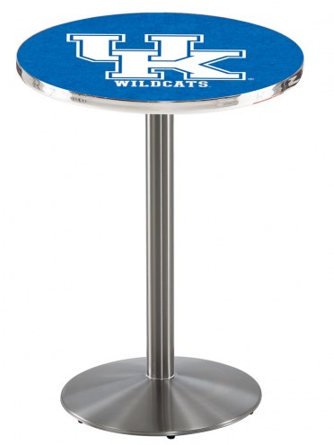 """Kentucky Wildcats """"UK"""" Stainless Steel Bar Table with Round Base"""