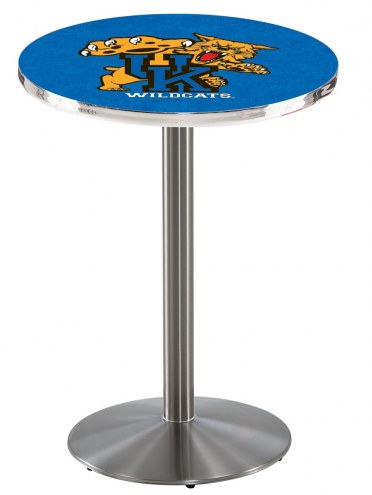 Kentucky Wildcats Stainless Steel Bar Table with Round Base