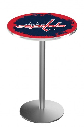 Washington Capitals Stainless Steel Bar Table with Round Base