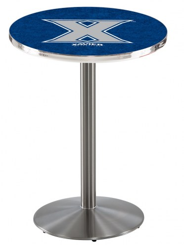 Xavier Musketeers Stainless Steel Bar Table with Round Base
