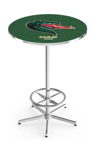 UAB Blazers Chrome Bar Table with Foot Ring