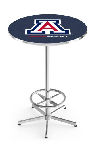 Arizona Wildcats Chrome Bar Table with Foot Ring