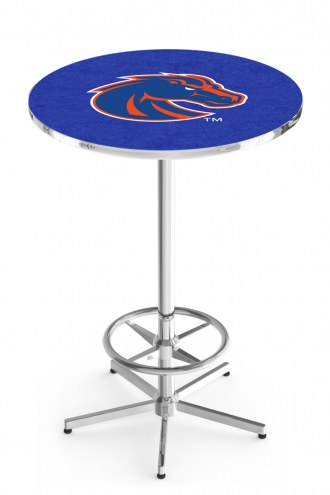 Boise State Broncos Chrome Bar Table with Foot Ring