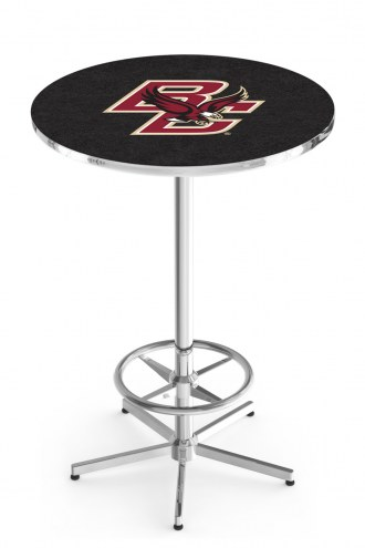 Boston College Eagles Chrome Bar Table with Foot Ring