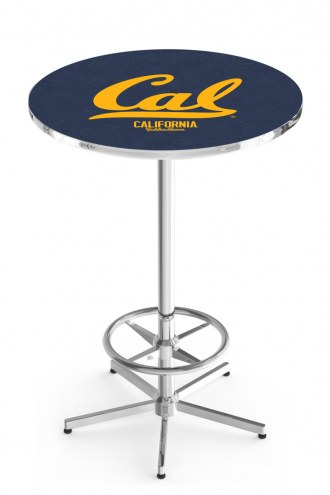 California Golden Bears Chrome Bar Table with Foot Ring