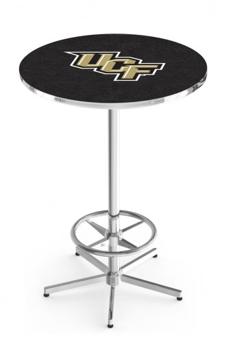 Central Florida Knights Chrome Bar Table with Foot Ring
