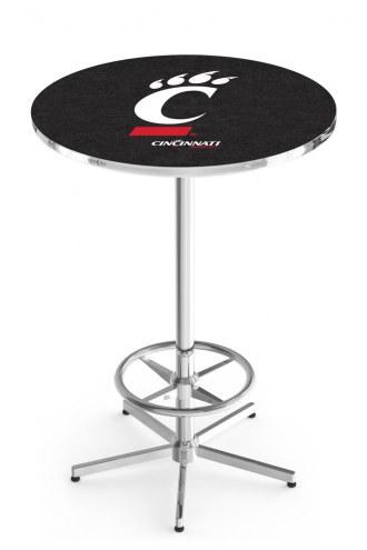 Cincinnati Bearcats Chrome Bar Table with Foot Ring