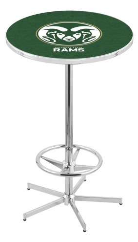Colorado State Rams Chrome Bar Table with Foot Ring