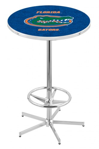Florida Gators Chrome Bar Table with Foot Ring