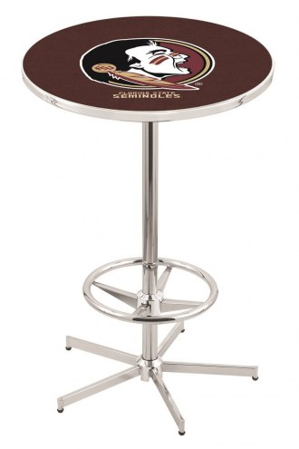 Florida State Seminoles Chrome Bar Table with Foot Ring