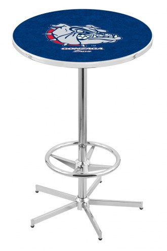 Gonzaga Bulldogs Chrome Bar Table with Foot Ring