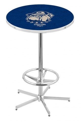 Georgetown Hoyas Chrome Bar Table with Foot Ring