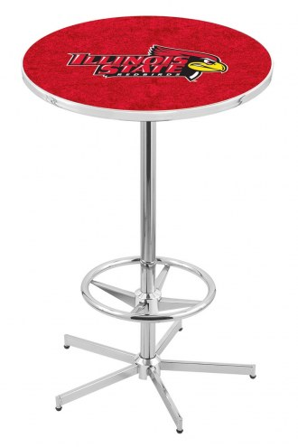 Illinois State Redbirds Chrome Bar Table with Foot Ring