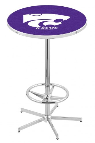 Kansas State Wildcats Chrome Bar Table with Foot Ring
