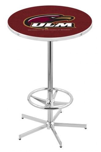 Louisiana-Monroe Warhawks Chrome Bar Table with Foot Ring