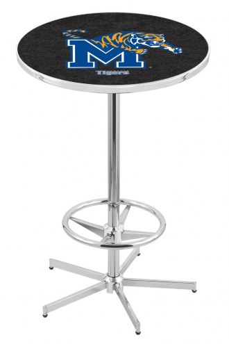 Memphis Tigers Chrome Bar Table with Foot Ring
