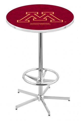 Minnesota Golden Gophers Chrome Bar Table with Foot Ring