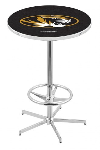 Missouri Tigers Chrome Bar Table with Foot Ring