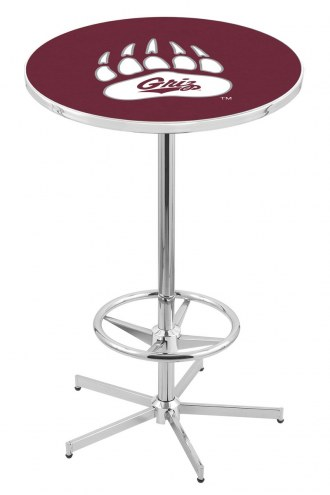 Montana Grizzlies Chrome Bar Table with Foot Ring