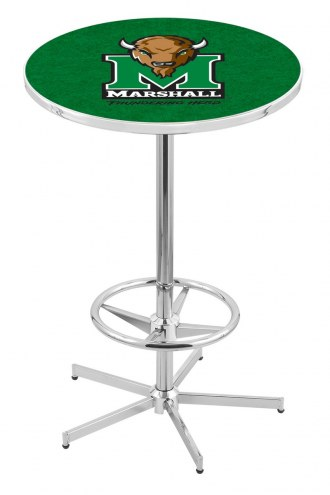 Marshall Thundering Herd Chrome Bar Table with Foot Ring