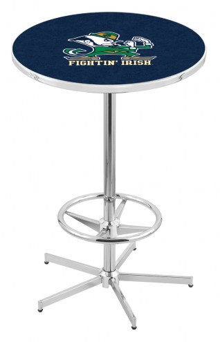 Notre Dame Fighting Irish Chrome Bar Table with Foot Ring