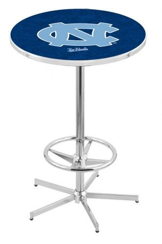 North Carolina Tar Heels Chrome Bar Table with Foot Ring