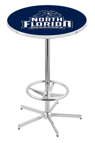 North Florida Ospreys Chrome Bar Table with Foot Ring