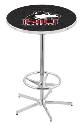 Northern Illinois Huskies Chrome Bar Table with Foot Ring