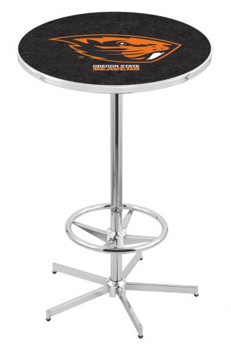Oregon State Beavers Chrome Bar Table with Foot Ring